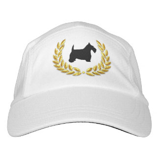 Black Scottie Gold Wreath Headsweats Hat