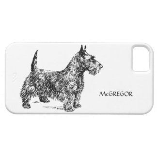 Black Scottie Scottish Terrier Dog Breed Custom Case For The iPhone 5