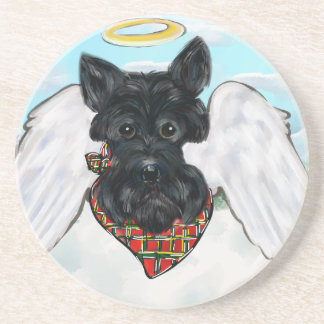 Black Scottish Terrier Angel Coaster