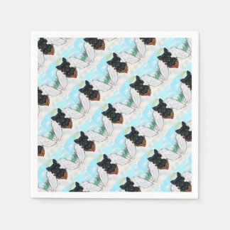 Black Scottish Terrier Angel Disposable Napkin