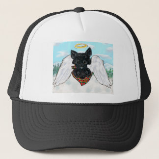 Black Scottish Terrier Angel Trucker Hat