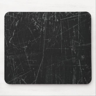 Black Scratched Aged and Worn Texture Mouse Pad