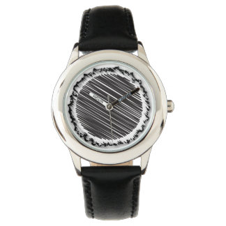 Black Scribble on Charred Paper Watch