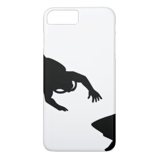 Black Scuba Diver and Shark iPhone 7 Plus Case