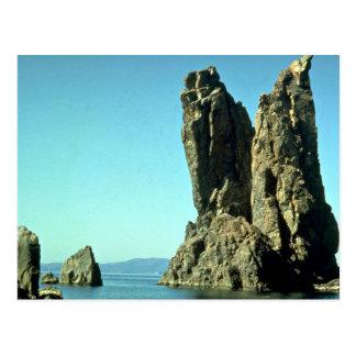 Black Sea, Crimea, Russia rock formation Postcard