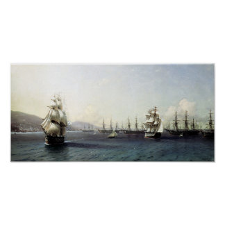 Black Sea Fleet in the Bay of Theodosia Poster
