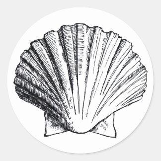 Black Sea Shell Sticker