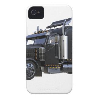 Black Semi Tractor Trailer Truck iPhone 4 Case-Mate Case
