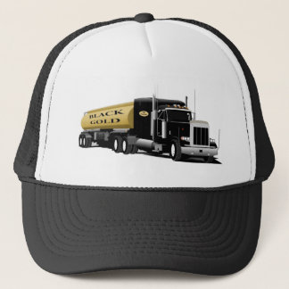 Black Semi Trucker Hat