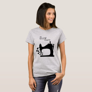 Black Sew Crafty Silhouette by Mini Brothers T-Shirt