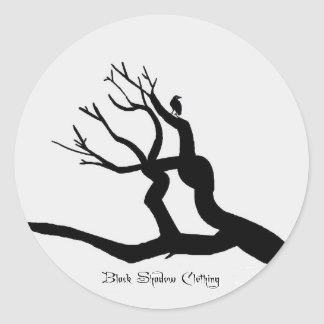 Black Shadow Clothing Classic Round Sticker