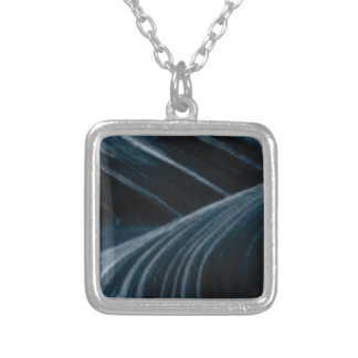 black shadow lanes silver plated necklace