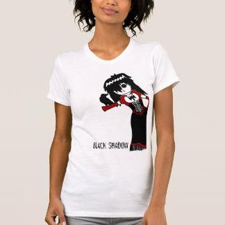 Black Shadow White Tshirt