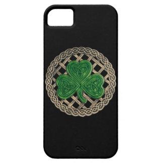 Black Shamrock And Celtic Knots iPhone 5G Case