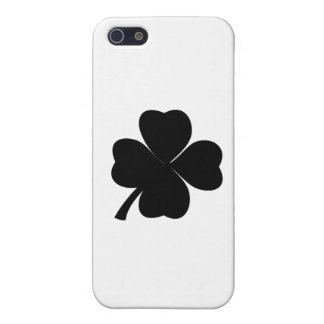 Black Shamrock Lucky Irish | Four Leaf Clover iPhone 5/5S Cases