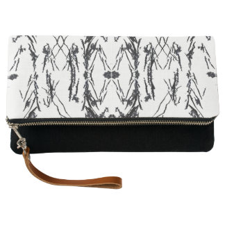 Black Shapes Clutch Bag