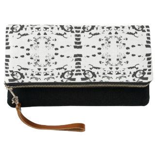 Black Shapes Clutch Bag