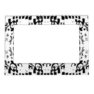 Black Shapes Magnetic Frame