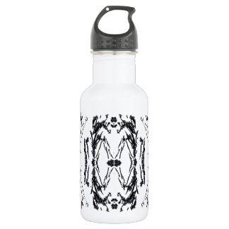 Black Shapes Water Bottle