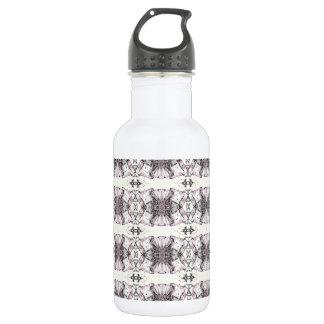Black Shapes Water Bottle
