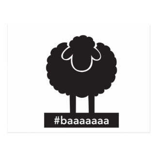 Black Sheep #baaaaa Postcard