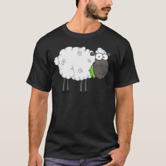 Black Sheep Cartoon Character T-Shirt