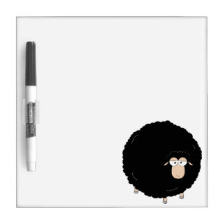 Black sheep cartoon illustration dry erase boards