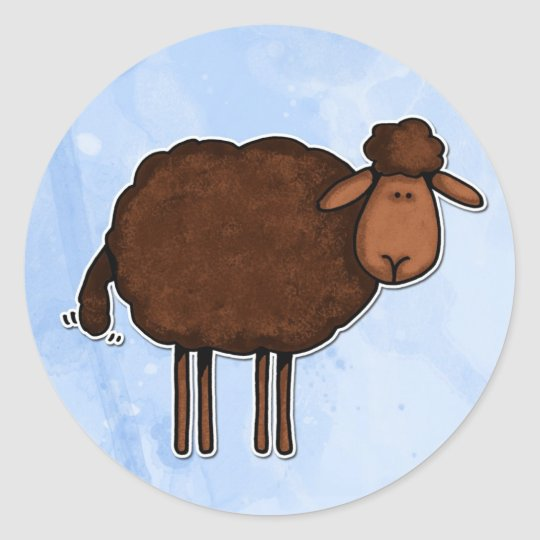 black sheep classic round sticker