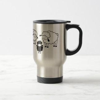 Black sheep family travel mug