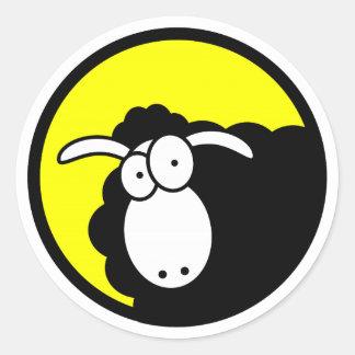 Black Sheep Inside Round Sticker