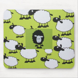 Black sheep mouse pad