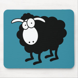 Black sheep mouse pad