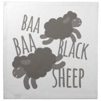 Black Sheep Printed Napkin