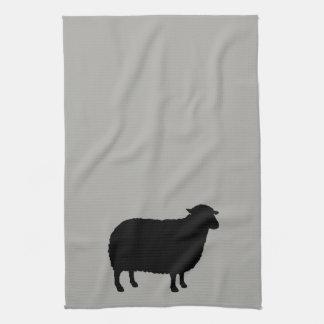 Black Sheep Silhouette Kitchen Towel