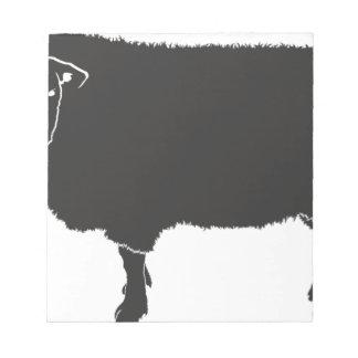 Black Sheep Silhouette Notepad