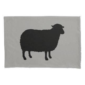 Black Sheep Silhouette Pillowcase