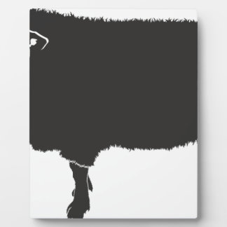 Black Sheep Silhouette Plaque