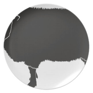 Black Sheep Silhouette Plate