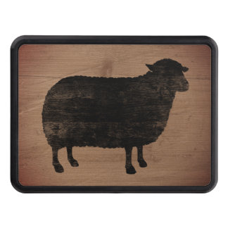 Black Sheep Silhouette Rustic Style Trailer Hitch Cover