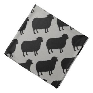 Black Sheep Silhouettes Pattern Bandana