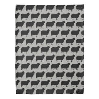 Black Sheep Silhouettes Pattern Duvet Cover