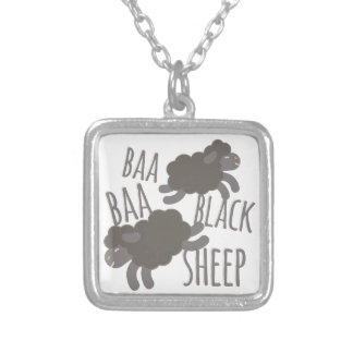 Black Sheep Silver Plated Necklace