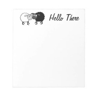 "Black Sheep White Sheep 5.5"" x 6"" Notepad 40 pages"