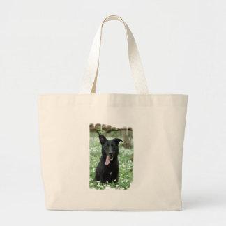Black Shepherd Canvas Bag