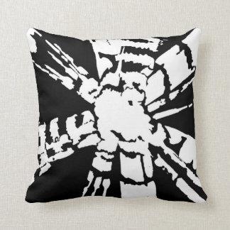 Black Shibori Throw Pillow
