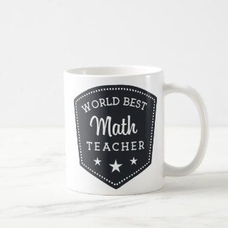 Black Shield Vintage World Best Math Teacher Coffee Mug