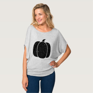 Black Shimmery Pumpkin T-Shirt