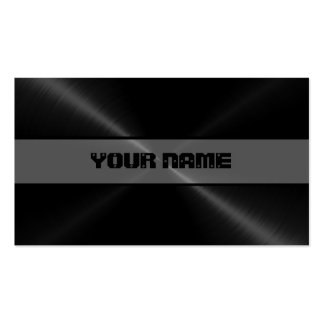 Black Shiny Stainless Steel Metal 4 Pack Of Standard Business Cards