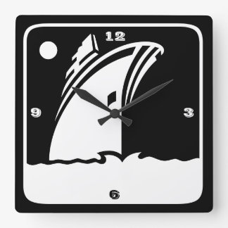Black Ship Cruise - Retro Style Wall Clock