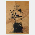 Black Ship Silhouette Post-it Notes